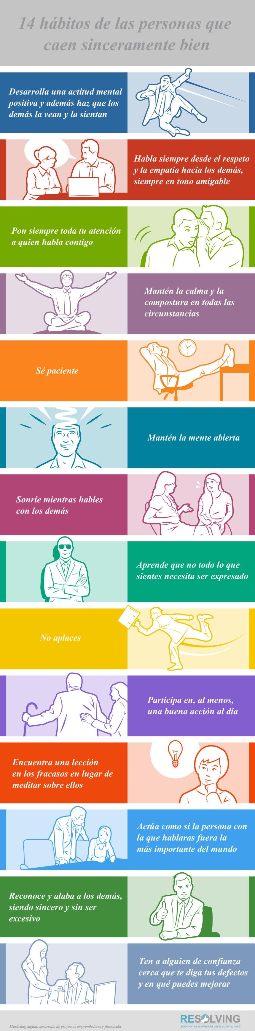 14 hábitos de las personas que caen sinceramente bien