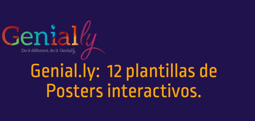 Genial.ly:12 plantillas de Posters interactivos