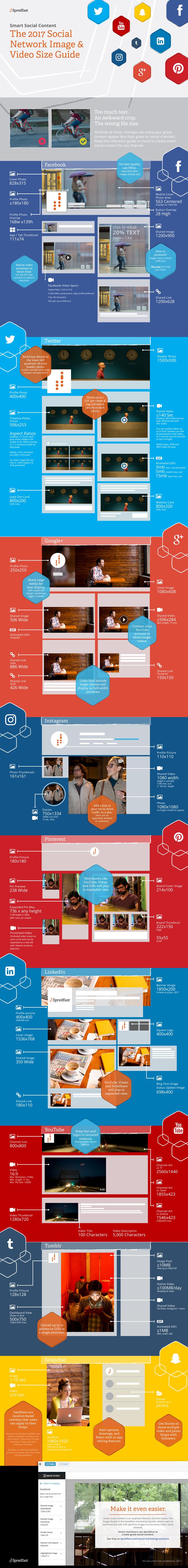 Tamaños de vídeos e imágenes para Redes Sociales