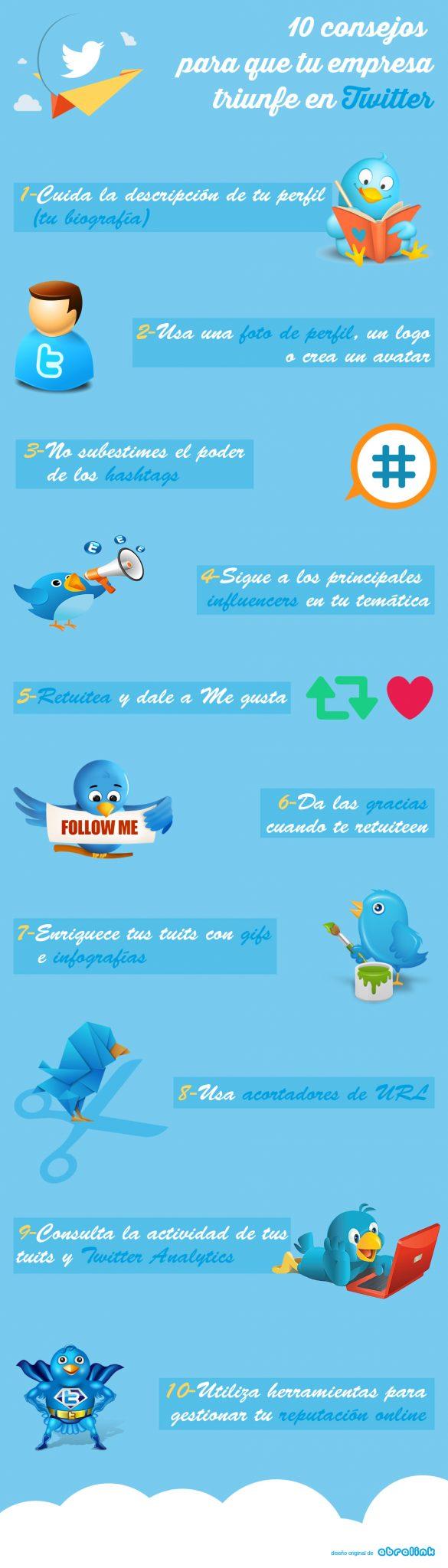 10 consejos para que tu empresa triunfe en Twitter