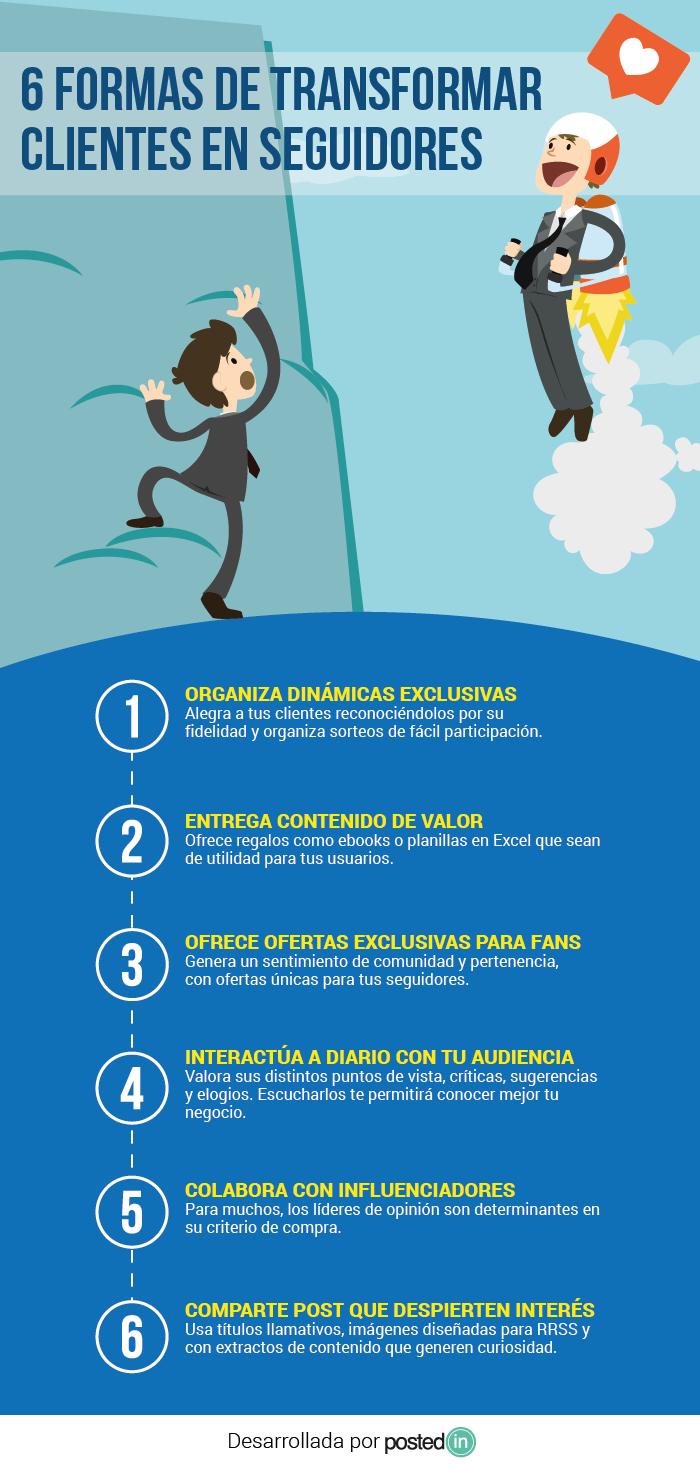 6 formas de transformar clientes en seguidores