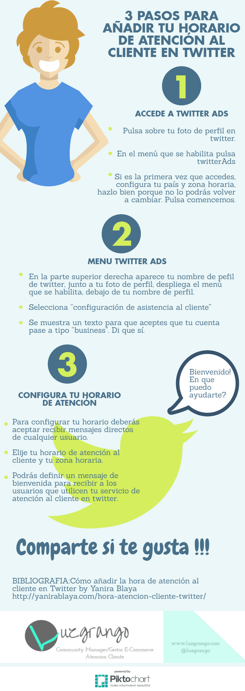 3 Pasos para añadir tu horario de atención al cliente en Twitter