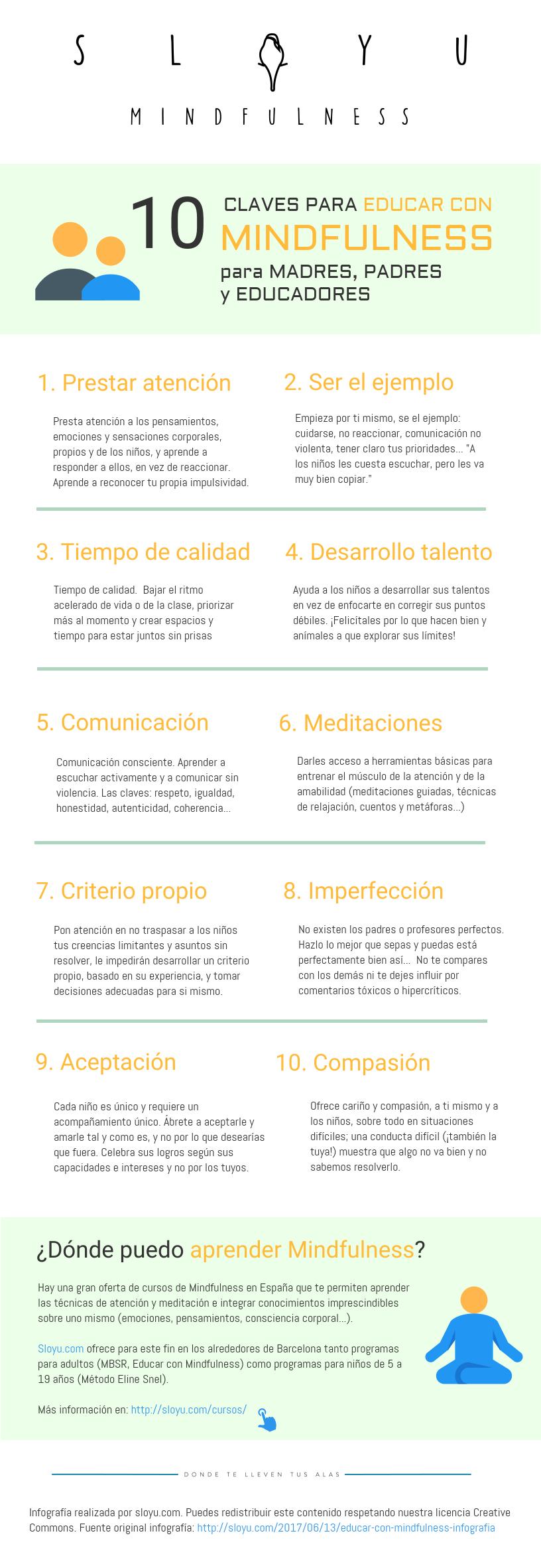 10 claves para Educar con Mindfulness