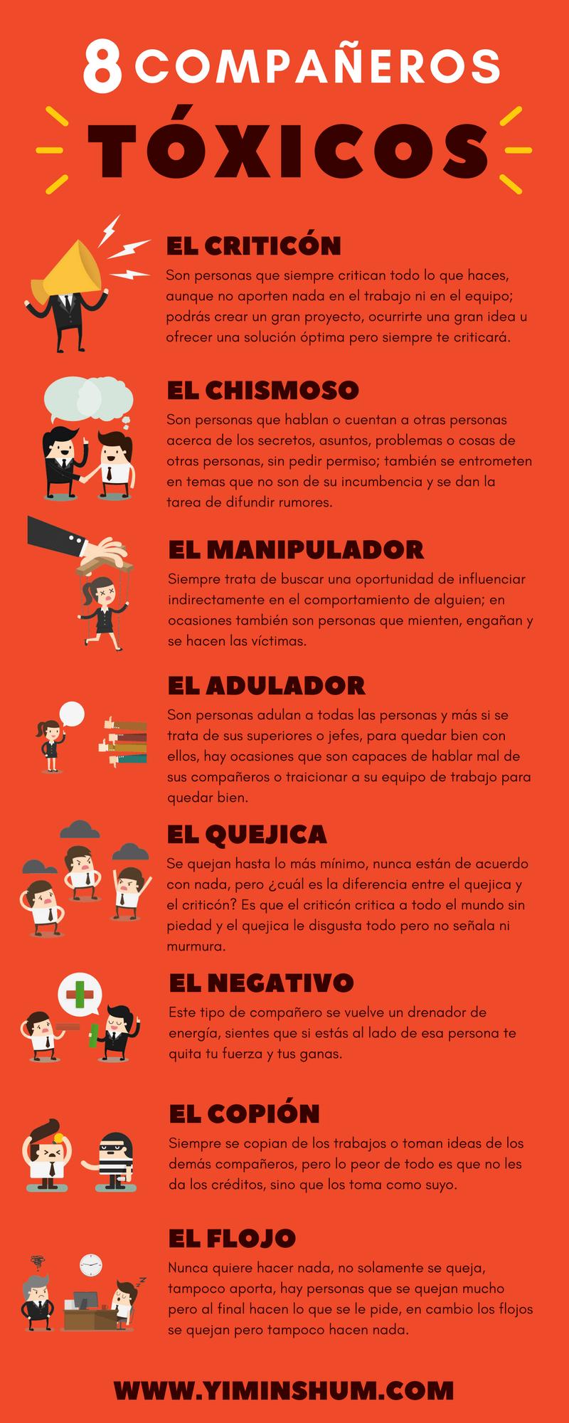 8 compañeros de trabajo tóxicos