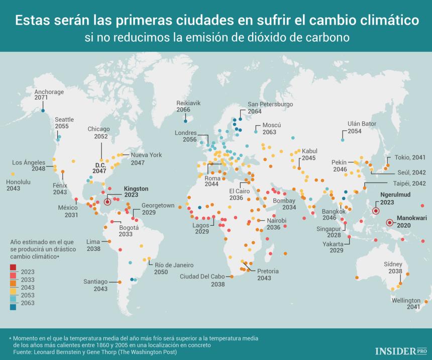 Las primeras ciudades que serán afectadas por el cambio climático son ...