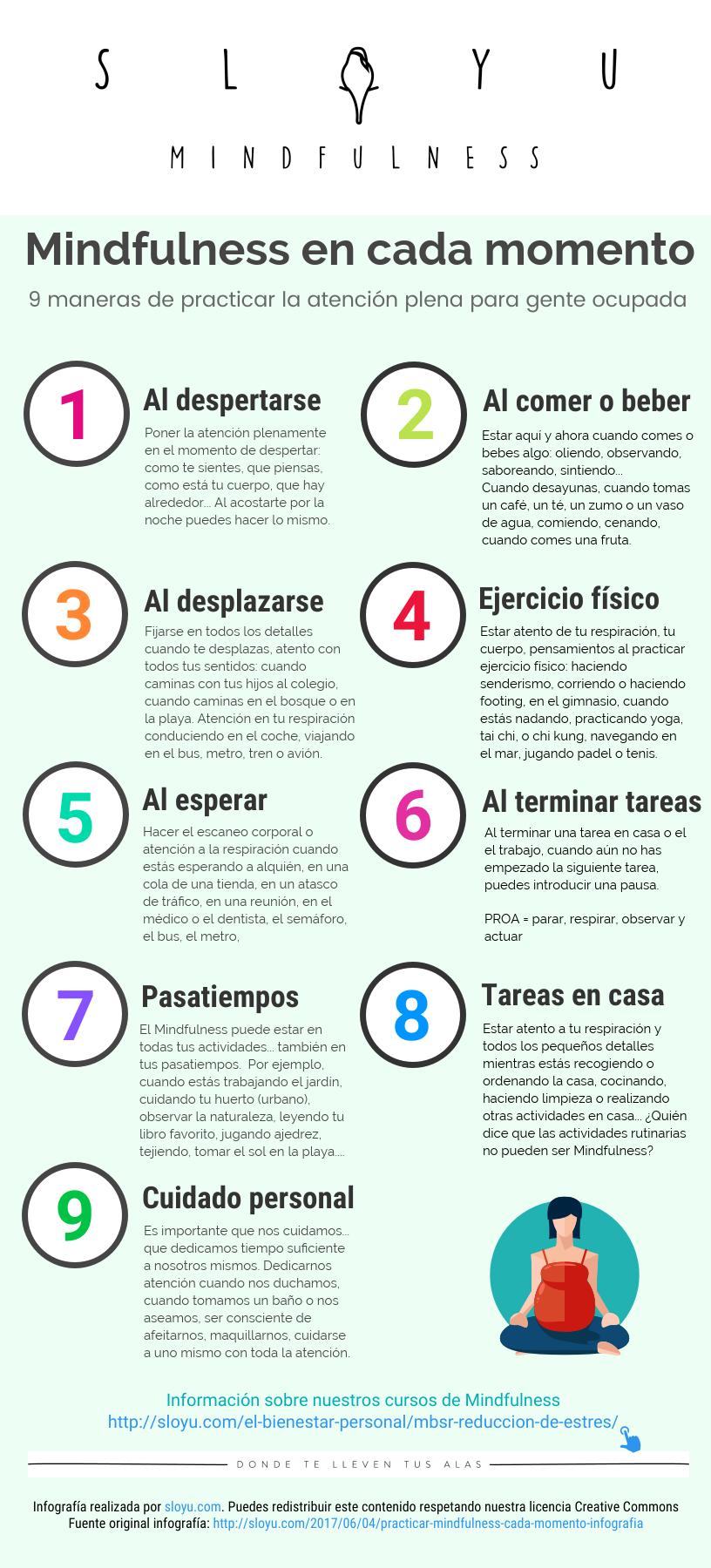 9 maneras de practicar la atención plena o mindfulness